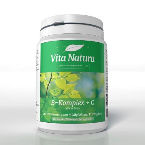 Vitamin B Komplex plus Vitamin C Vita Natura