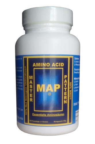 MAP Master Amino Acid Pattern 8 Essentielle Aminosäuren 120 Presslinge Moretti