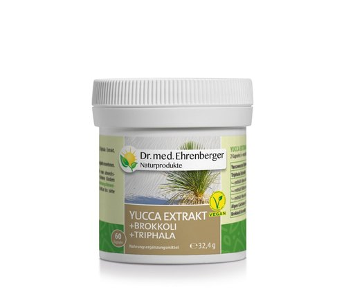 Yucca Extrakt Kapseln (+Brokkoli +Triphala) Dr. Ehrenberger