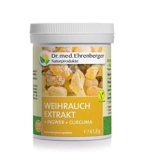 Weihrauch Extrakt Kapseln (+Ingwer +Curcuma) Dr. Ehrenberger